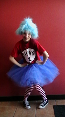 thing 1, thing 2,  clown party